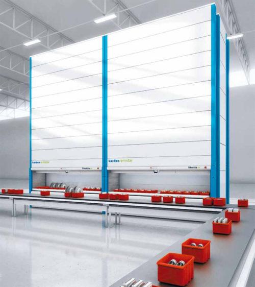 自動収納庫とラインを一体化し、生産性を向上