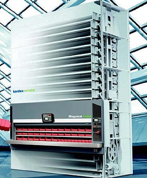 縦型回転式 自動収納庫 最小の設置面積に最大の収納スペースを確保
