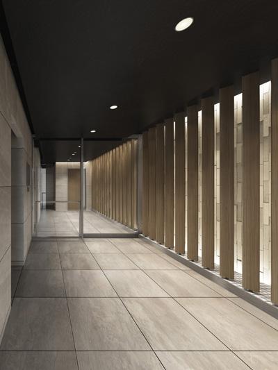 佐川林業の木材を使用したエントランスイメージ