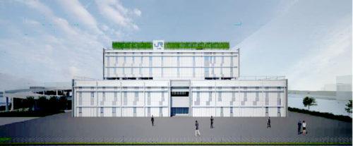 駅事務所棟・立体駐車場棟西側イメージ