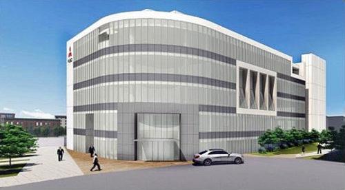 2018年末、完成予定の新社屋「プロダクト・センター」完成予想図