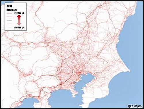 関東圏流入経路図