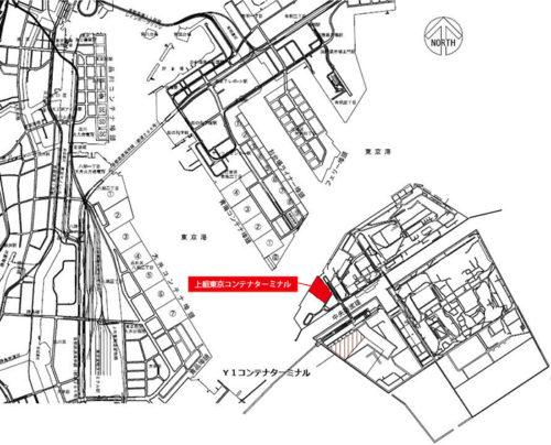 コンテナターミナル位置図