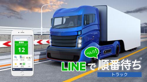 LINEで順番待ち for トラックイメージ