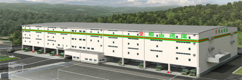 福山北流通センター(仮称)の完成予想図