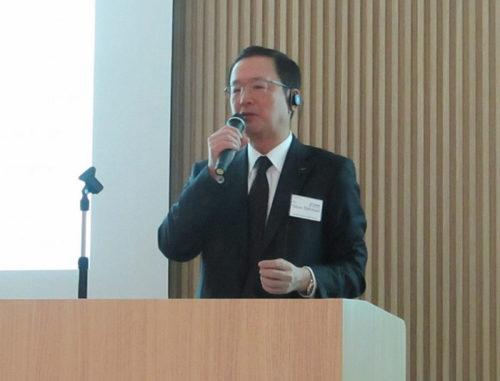 中谷社長によるスピーチ