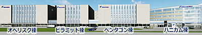富山第一工場内の位置図
