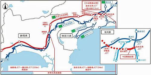20171220nexcocenter 500x247 - 新東名/海老名南JCT~厚木南IC間、来年1月28日開通