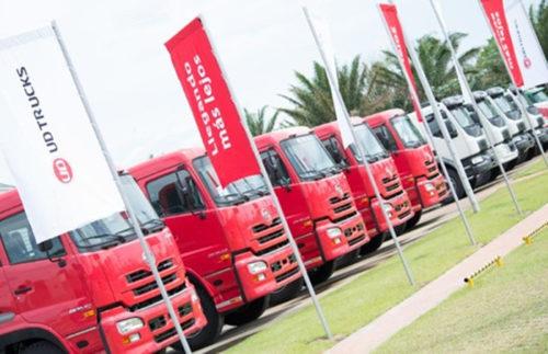 ボリビア・サンタクルス市にある二ボル社のトラックセンター