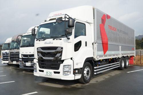 実証実験に参加した4社のトラック