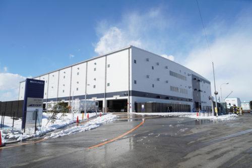 竣工を控えた蓮田ロジスティクスセンター(1月24日)