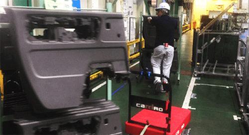 河西工業工場内での使用例