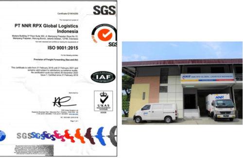 ISO9001:2015認証(左)とにしてつインドネシア現地法人