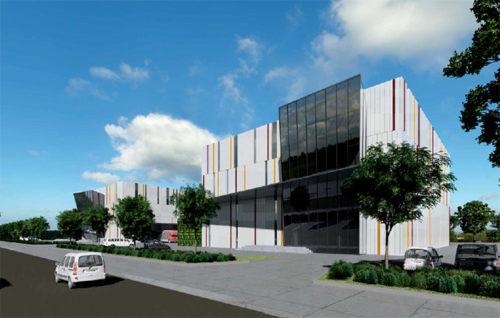 物流施設兼オフィス棟の完成イメージ(ミャンマー ヤンゴン市)