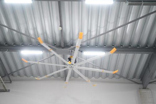 大型シーリングファン標準設置 全24基
