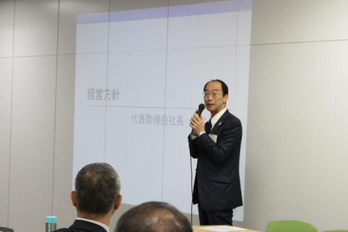 谷村次期社長の基調講演