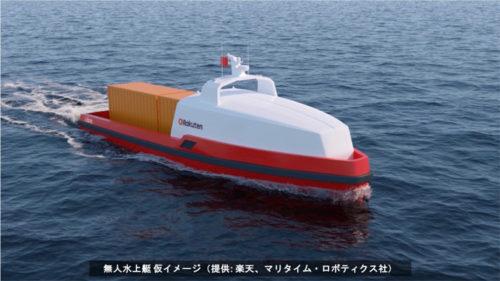 20180313rakuten 500x281 - 楽天技術研究所/無人貨物船で共同研究