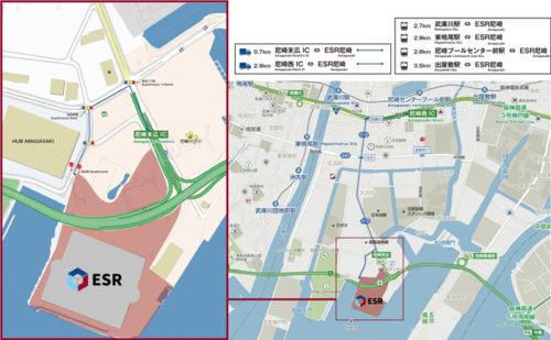 20180321esr6 500x309 - ESR/兵庫県尼崎市に国内最大級38.8万m2の物流施設開発
