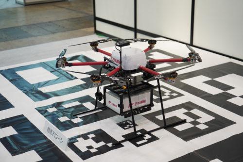 Japan Drone展で展示されていた伊那市で実証実験したドローン