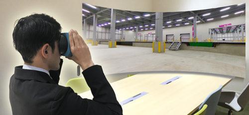 VR内見 plus Movieで内見が可能なロジスクエア千歳 倉庫内画像