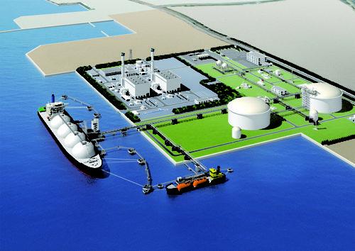 相馬LNG基地、FGP福島天然ガス発電所完成イメージ(2020年時点)