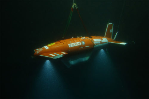 「Team KUROSHIO」の海中ロボット 東京大学生産技術研究所製 型式:AE2000f
