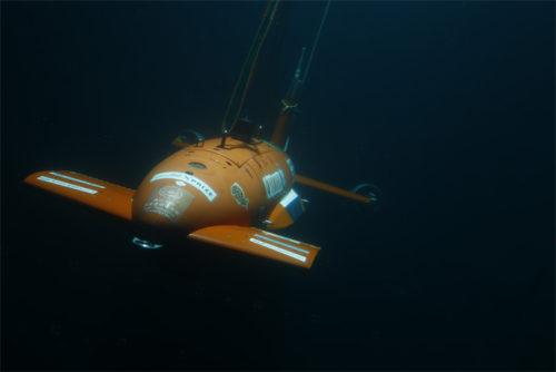 「Team KUROSHIO」の海中ロボット 東京大学生産技術研究所製 型式:AE2000a
