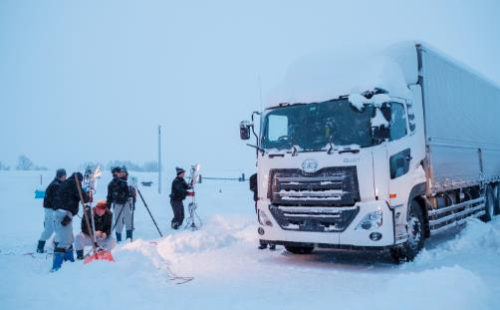 北見市での寒地走行試験