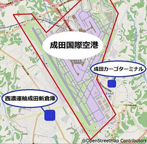 成田空港周辺地図