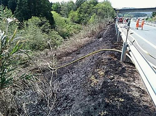消火後の現地状況