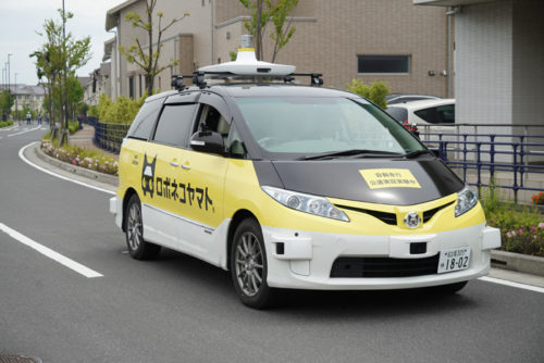 Fujisawa SSTの住宅地内の公道(環境封鎖)で自動運転走行した様子