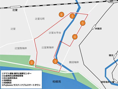 4月24日に行ったロボネコヤマト自動運転走行実験の概要図