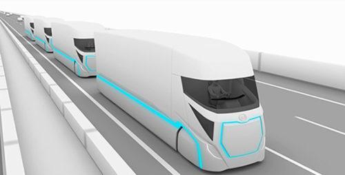 未来の自動運転・大型フル電動トラックのイメージ
