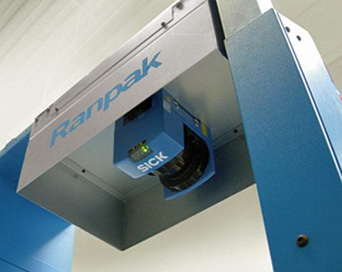 自動紙緩衝材梱包システム「AccuFill」センサー部