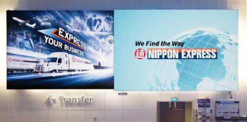 チャンギ国際空港の看板広告