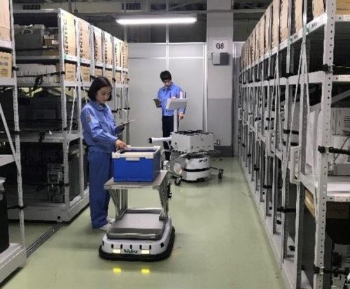 倉庫内でのロボット活用のイメージ