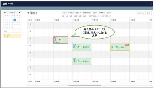 バース管理カレンダー