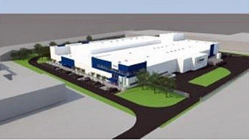 スロベニア工場の完成予想図