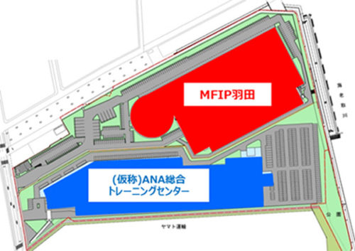 HANEDAインダストリアルパークの配置図