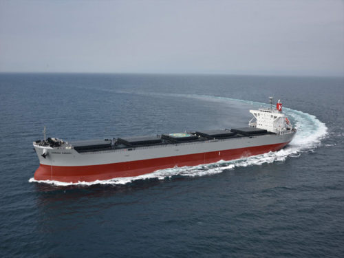 20180523kawasaki1 500x375 - 川崎汽船/コロナシリーズ石炭専用船を竣工