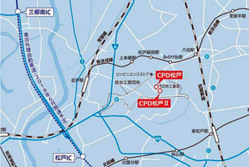20180525cpd3 500x337 - CPD、三菱UFJリース、東急不動産/松戸市に1.6万m2の物流施設着工