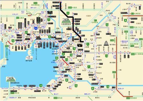 20180618kansai4 500x355 - 阪神高速/池田線除き、通行止め解除(18日13時現在)