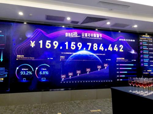 618セールで1592億元(約2.7兆円)