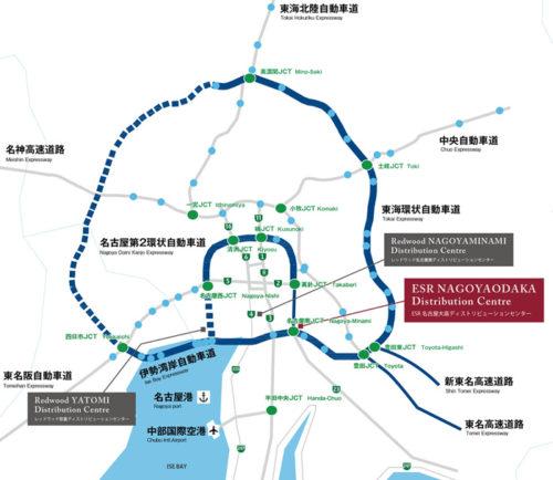 20180622esr4 500x434 - ESR/投資額58億円、名古屋市に3.74万m2の物流施設開発