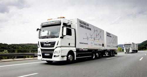 ネットワーク型トラックの定期試験走行