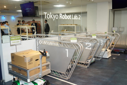 Tokyo Robot Lab.2に物流関係のロボットを集めている