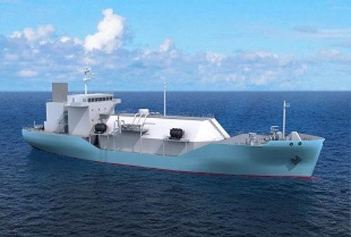 LNG 燃料供給船イメージ図 (川崎重工業提供)
