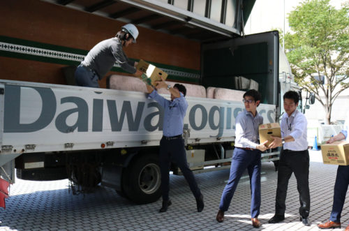 大和ハウスの支援物資輸送