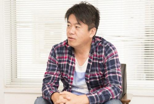 アドバイザーに就任した堀江貴文氏