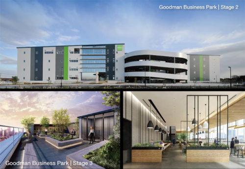 グッドマンビジネスパークステージ2とステージ3のアメニティ関係
